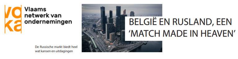 BELGIË EN RUSLAND, EEN 'MATCH MADE IN HEAVEN'