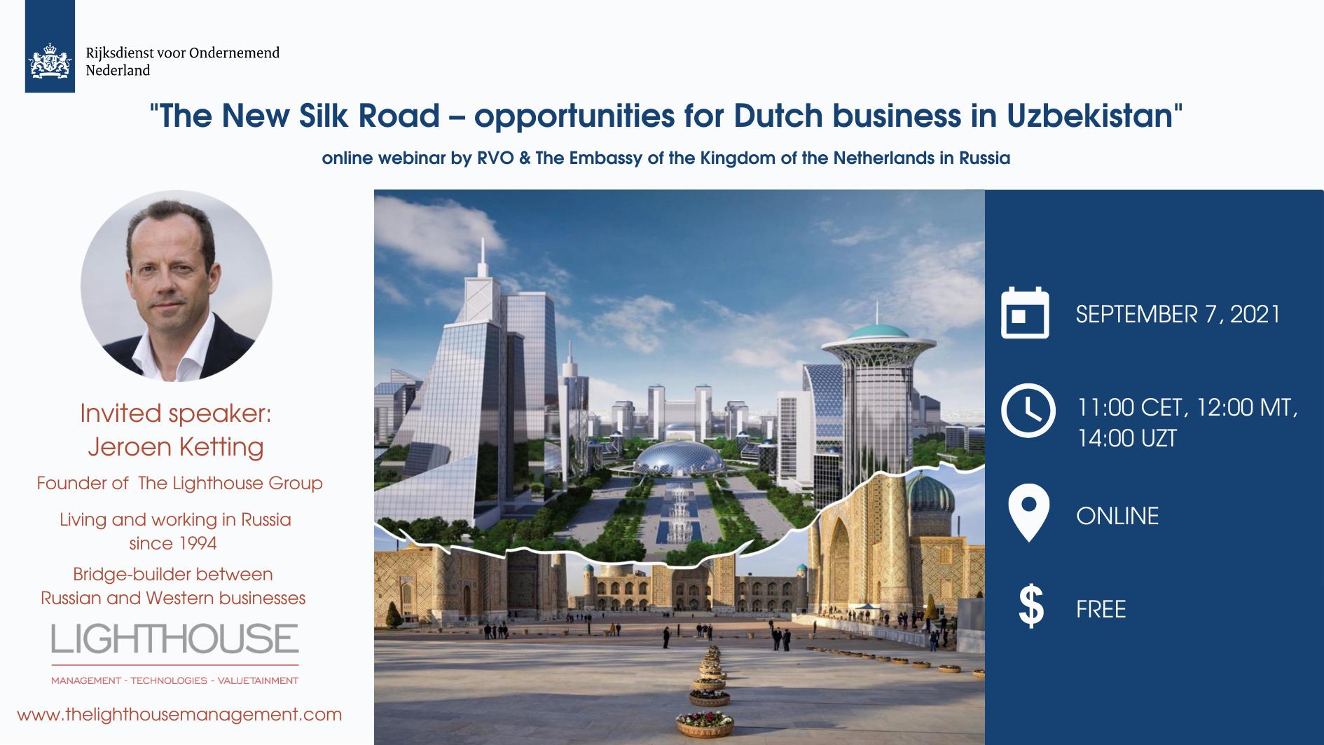 Webinar The New Silk Road – opportunities for Dutch business in Uzbekistan September 7th (3)